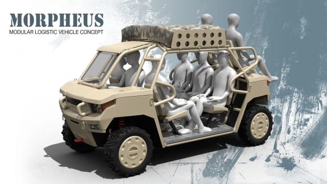 The Morpheus by Launch Forth member mey2008, one of the many conceptual designs contemplating ways a modular logistics vehicle can contribute to the U.S. Marines. (Image courtesy of Launch Forth.)