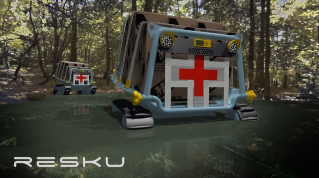 From the mind of Launch Forth member lulu, the RESKU can transport cargo but also injured disaster victims after some easy modulation. (Image courtesy of Launch Forth.)