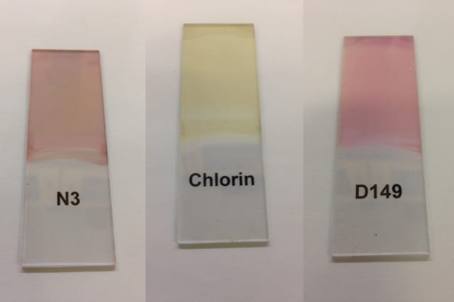 The photoresponsive effect can be highly tuned by selecting from among thousands of available organic dyes. (Image courtesy of MIT.)