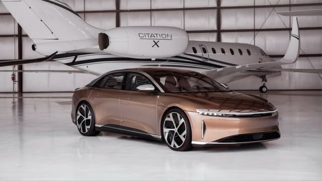 We'd rather you compare it to a jet aircraft than the Tesla Model S, Lucid seems to say. (Picture courtesy of Lucid)