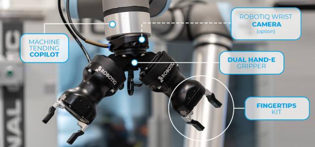 Robotiq application kit for machine tending. (Image courtesy of Robotiq.)