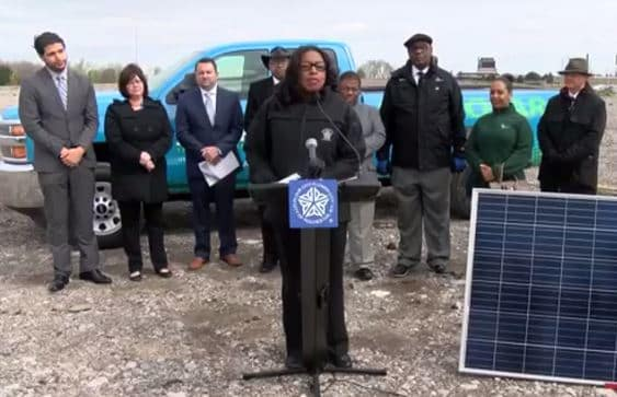 Rochester Mayor Lovely Warren at the Groundbreaking Ceremony