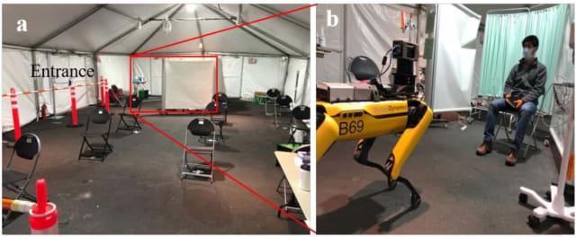 Tenda medis tempat Spot diuji.  (Foto milik MIT / Brigham and Women's Hospital / Boston Dynamics)