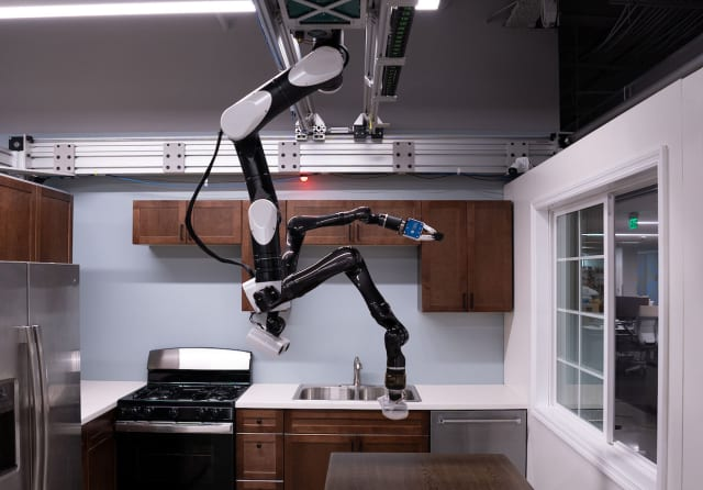 TRI's ceiling-mounted home robot. Photo courtesy of TRI.