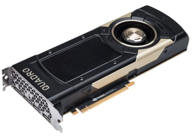 Integrated the new the new Quadro GV100 from NVIDIA into the VRHero 5K Plus will help process larger and more complex amounts of 3D data. The GPU has 7.4 TFLOPS double-precision, 14.8 TFLOPS single-precision and 118.5 TFLOPS deep learning performance, and 32GB of high-bandwidth memory capacity. Two GV100 cards can be combined using NVIDIA NVLink interconnect technology to scale memory and performance, creating a massive visual computing solution in a single workstation chassis. (Image courtesy of NVIDIA.)