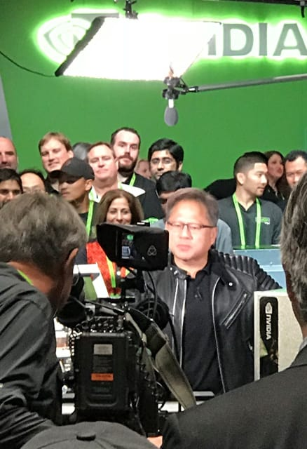 Not our system, says NVIDIA leader Jensen Huang, under the lights for a CNBC Mad Money segment from the floor of the company's annual user conference, asked about the Uber self-driving car that killed a pedestrian.