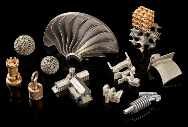 A selection of metal additive parts. (Image courtesy of NextManufacturing Center/Carnegie Mellon University.)