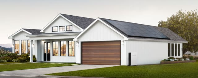 A house with Tesla solar panels. (Image courtesy of Tesla.)