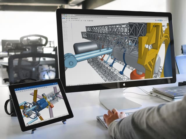 ONSHAPE ON ANY DEVICE. With its cloud platform, Onshape is available on multiple devices, including PCs, tablets and mobiles. This is a good capability to have when you want to share models or drawings.