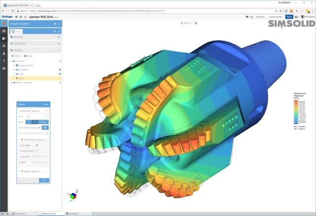 ADDING CAPABILITIES. Onshape collaborates with like-minded companies to provide important capabilities such as FEA (Finite Element Analysis), rendering and other tools in the app store.