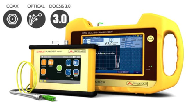 Cable Ranger DOCSIS 3.0 analyzers. (Image courtesy of PROMAX.)