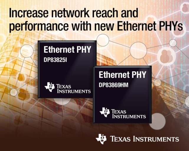Ethernet PHYs. (Image courtesy of Texas Instruments.)