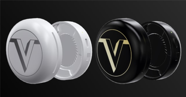 Air Premium masks have silent electric mini-fans within their filter caps. (Image courtesy of Indiegogo.)