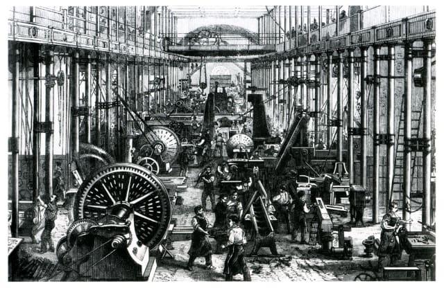 Machine works in Chemnitz circa 1868.