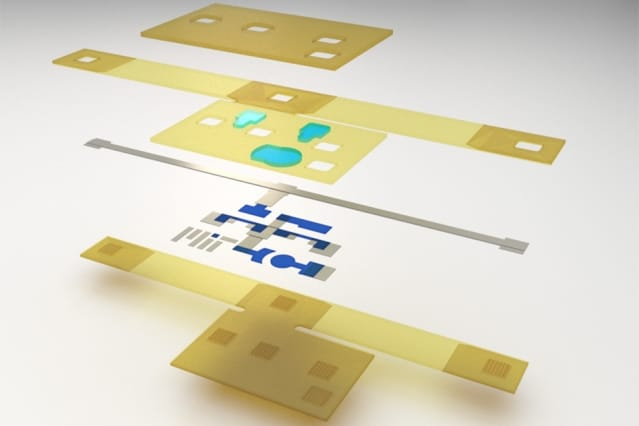 The components that make up the printable device. (Image courtesy of Subramanian Sundaram.)