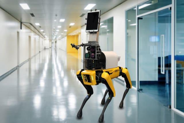 Boston Dynamics' Spot robot. (Photo courtesy of MIT/Brigham and Women's Hospital/Boston Dynamics.)