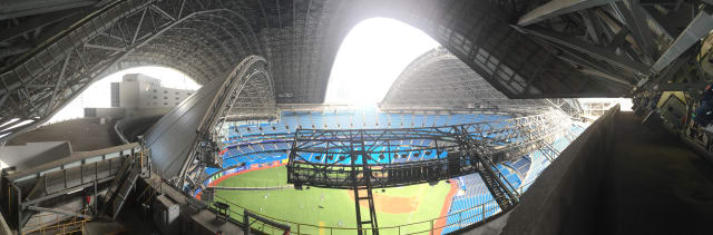 Inside the Rogers Centre roof. (Image courtesy of JMP Engineering.)