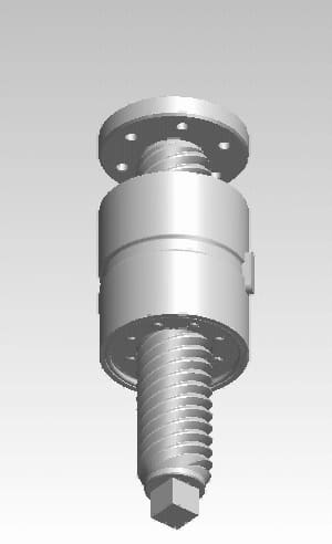 How a roller screw mechanism works. (Image courtesy of Wikipedia.)