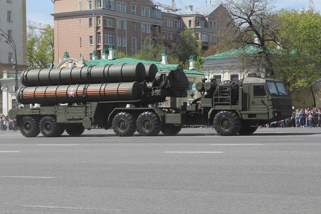 S-400 Triumph NATO reporting name: SA-21 Growler С-400 «Триумф».JPG S-400 Triumph launch vehicle Type Mobile surface-to-air missile system Place of origin Russia Service history In service 28 April 2007 – present[1] Used by Russia Production history Designer Almaz-Antey Manufacturer Fakel Machine-Building Design Bureau Unit cost $400 million per fire unit (artillery battalion) that consists of 8 launchers, 112 missiles, command and support vehicles No. built ~320 (as of October 2017, there were at least 320 launchers (41 artillery battalions) deployed in 21 regiments)[2] Specifications Engine YAMZ-8424.10 Diesel V12 400 HP/294kW Transmission YAMZ Suspension Leaf spring Ground clearance 485 mm Operational range 380 km (40N6E missile) 250 km (48N6 missile) 120 km (9M96E2 missile) 40 km (9M96E missile) The S-400 Triumf (Russian: C-400 Триумф, Triumph; NATO reporting name: SA-21 Growler), previously known as the S-300 PMU-3,[3] is an anti-aircraft weapon system developed in the 1990s by Russia's Almaz Central Design Bureau as an upgrade of the S-300 family.