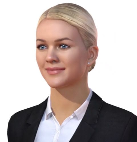 Caption: Looking good. Amelia is the face of AI being developed by IPsoft and the company hope she will be used in answering insurance claims or doing some other customer service. (picture from IPsoft video)