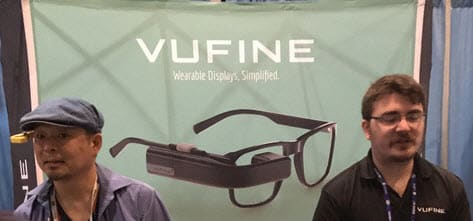 Vufine+ mounts on the arm of regular glasses to provide a 960x540 display near your eye for only $199.