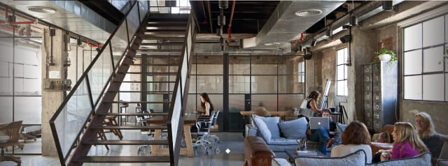 SOSA's hip workplace for construction-oriented tech startups in Tel Aviv, Israel.
