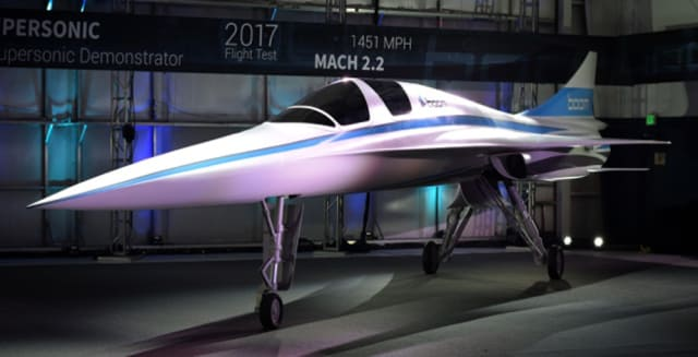 The XB-1 demonstrator from Boom Supersonic. (Image courtesy of Stratasys.)