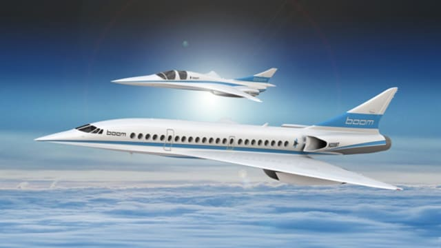 Stratasys has partnered with Boom Supersonic to enable the development of a supersonic aircraft. (Image courtesy of Stratasys.)
