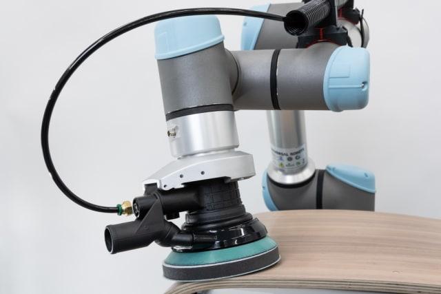 Robotiq application kit for sanding.  (Image courtesy of Robotiq.)