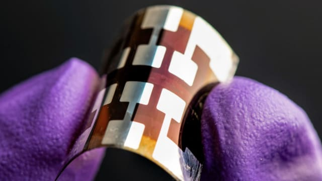 Flexible perovskite solar cell. (Image courtesy of National Renewable Energy Laboratory [NREL].)