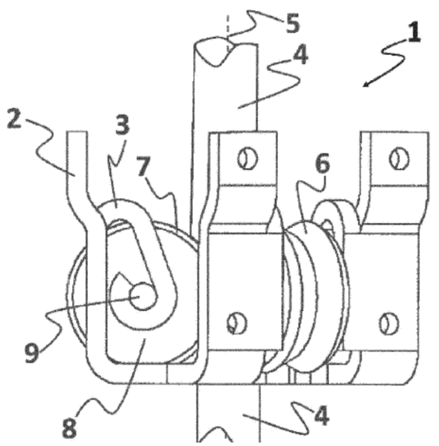 Rollers spin as waves move the device up and down the shaft. (Image credit of SINN Power's patent application.)