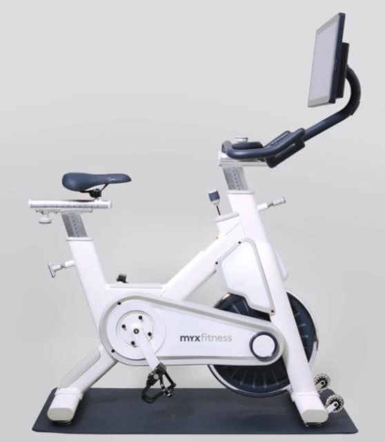 At $1,299, the MYX Fitness Bike is competitively priced compared to the Peloton. (Image courtesy of exercisebike.ca.)