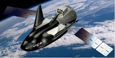 Artistic rendering of the Dream Chaser spacecraft. (Image courtesy of Sierra Nevada Corporation.)