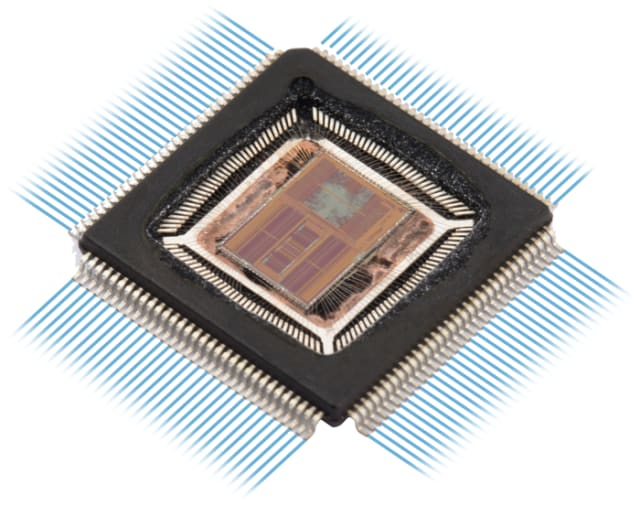 Silicon integrated chip. (Image courtesy of Advanced Silicon.)