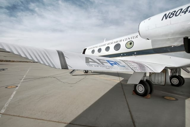 A shape-shifting airplane wing being developed by NASA. (Image courtesy of NASA.)