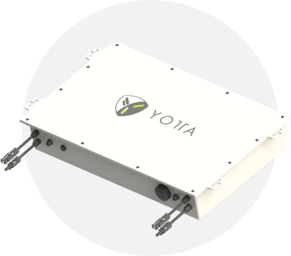 The SolarLeaf device. (Image courtesy of Yotta Energy.)