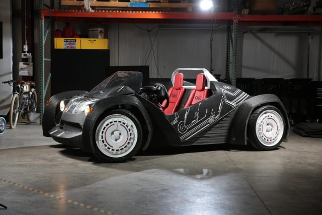 The Strati, the world's first 3D-printed car. (Image courtesy of Local Motors.)