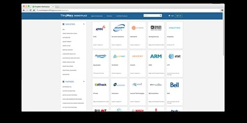 A screengrab of some of the partners in the ThingWorx Marketplace. (Image courtesy of PTC.)