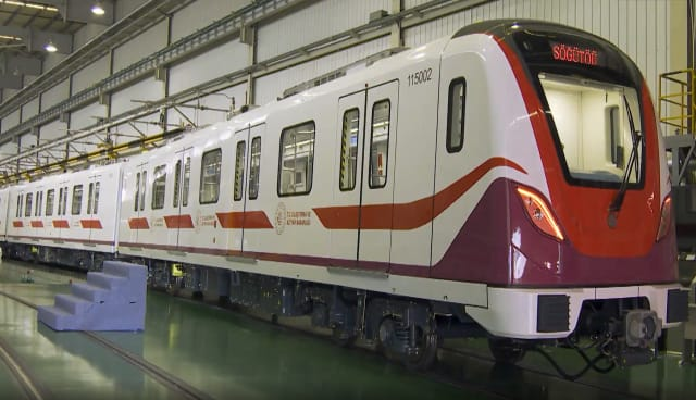 A new GoA 4-graded driverless metro train leaves the production line in China for Istanbul, Turkey. (Image courtesy of Xinhua.)