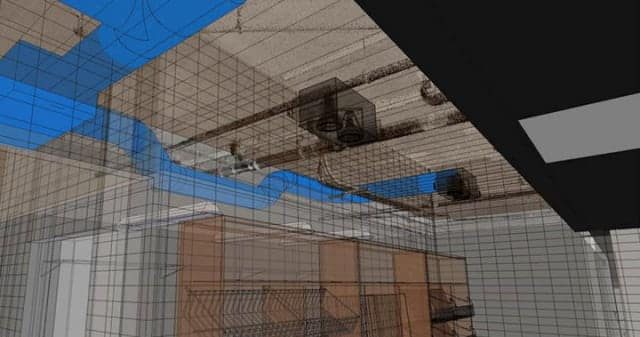 Designers from Turner and Fleischer opted to use laser scanning to capture the structure of the building in order to have precise as-built 3D data to help them achieve the desired renovations and additions. (Image courtesy of Turner and Fleischer.)