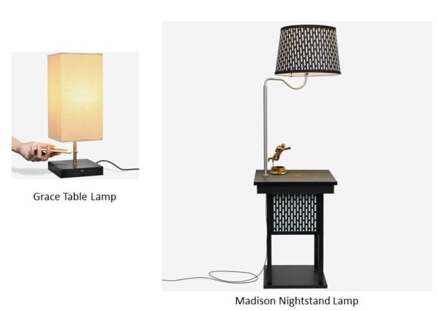 Figure 1. Two of Brightech's lamps. (Image courtesy of Brightech.)