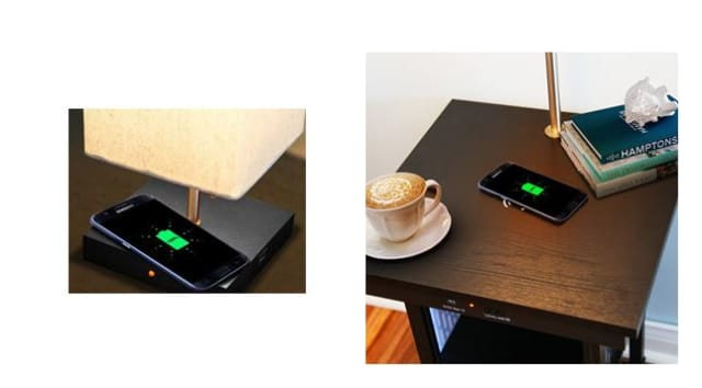Figure 4. Wireless charging with Brightech lamps. (Image courtesy of Brightech.)