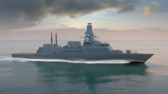 Artist's depiction of the HMS Glasgow. (Image Courtesy of BAE.)