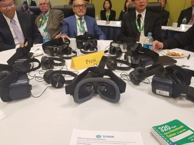 The Taiwan Association of Machinery Industry put on the most futuristic press conference I've ever attended, but I wouldn't call it a revolution in media. (Image courtesy of the author.)