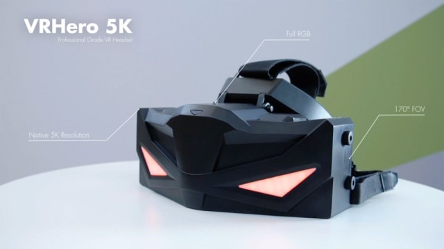 The first product from VRgineers—the VRHero 5K Plus headset—boasts a Field-of-View (FoV) of 150-170 degrees, a 5K screen resolution of 5120 x 2880, spatial 3D sound and a refresh rate of 70 Hertz (Hz). (Image courtesy of VRgineers.)