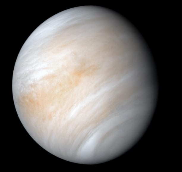 A newly processed, enhanced image of Venus shows clouds approximately 30 miles above the planet's surface, perhaps making an ideal location for an exploratory cloud base. (Image courtesy of NASA/JPL-Caltech.)