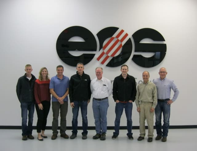 The team from Vulcan Labs is all smiles following the acquisition [Image: EOS]