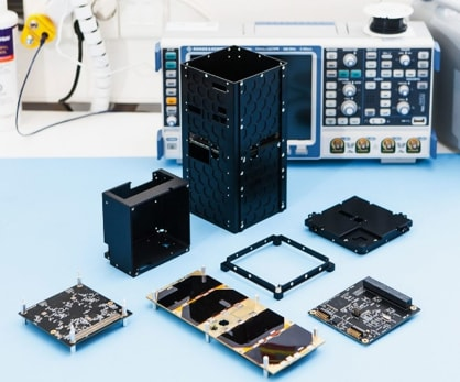 W-Cube will be based on the Hello World CubeSat, pictured here (some assembly required). (Image courtesy of Reaktor Space Lab).