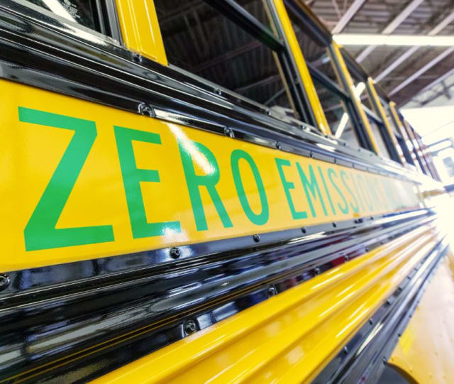 A zero-emission school bus. (Image courtesy of Dominion Energy.)