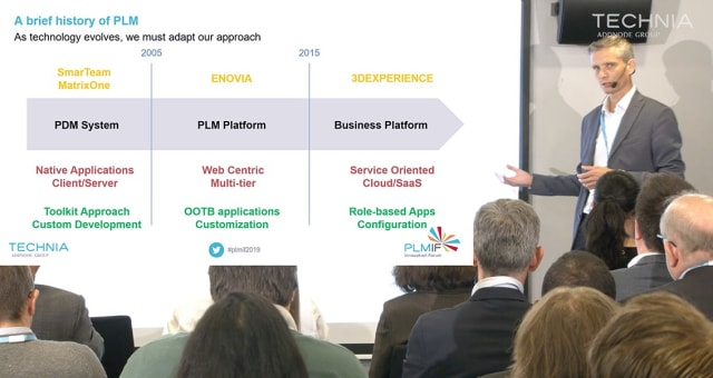 "TECHNIA's CTO, Johannes Storvik speaks at PLMIF 2020 under the heading, ""Value driven implementation: How to choose the right problems to solve."""